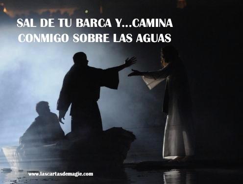 SAL DE TU BARCA Y CAMINA CONMIGO SOBRE LAS AGUAS